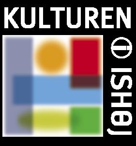 Kulturen i Ishøj logo med hvid skrift